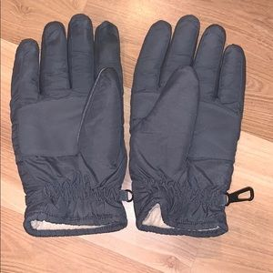 Men's thinsulate winter gloves gray size M